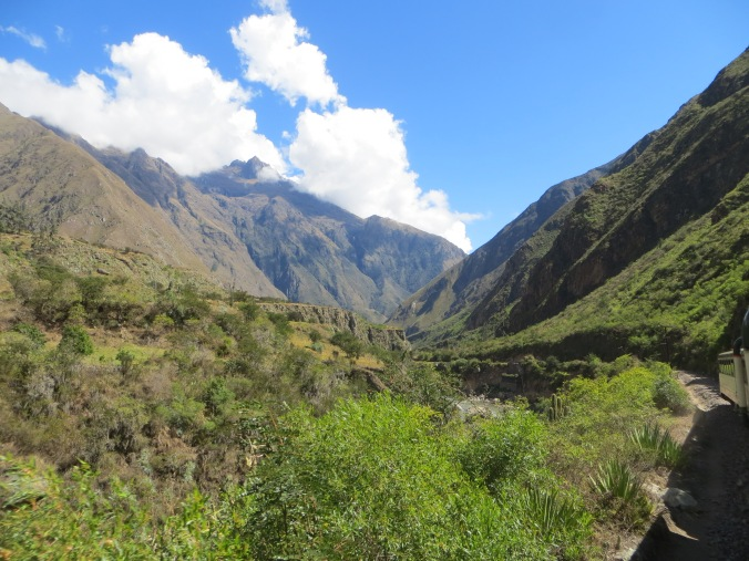View from the train to Machu Picchu