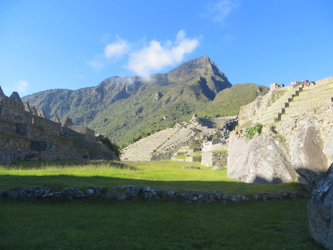 View of the not-as-often photographed Machu Picchu Mountain