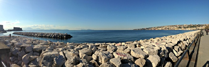 Bay of Naples - with a view of Mount Vesuvius and Capri in the distance