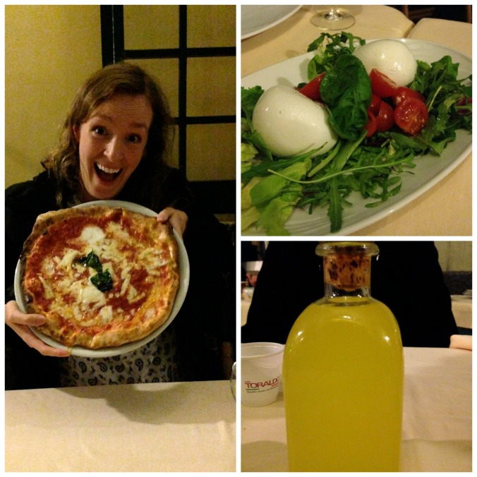 Reunited with Neapolitan pizza / Mozzarella di bufala / Limoncello