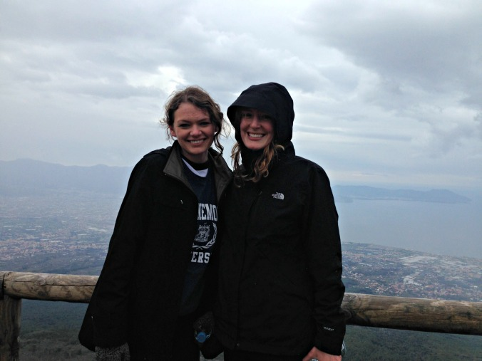 Freezing on top of Mount Vesuvius
