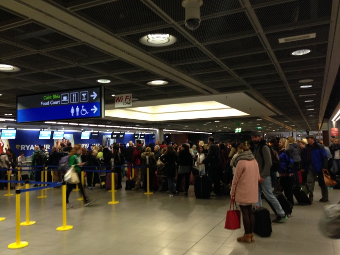 Insane crowds at 04:30 on Easter Sunday morning at Dublin Airport
