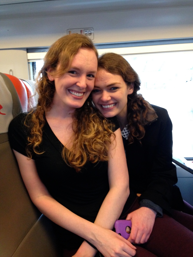 My sister & I on the train to Napoli