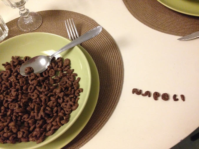 Fun with my cereal - I love Napoli!