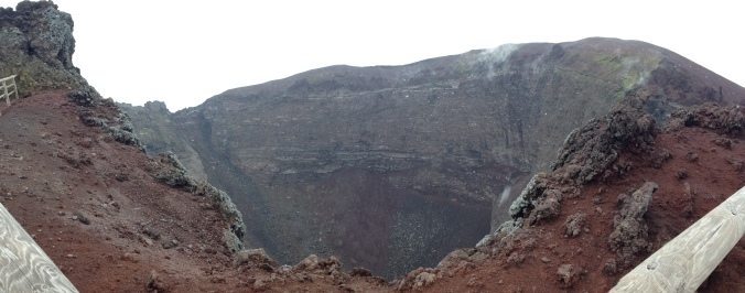 Mount Vesuvius crater
